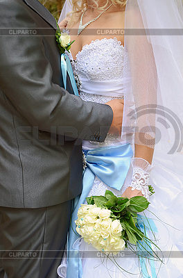 Bride and groom and wedding bouquet | High resolution stock photo |ID 3042274