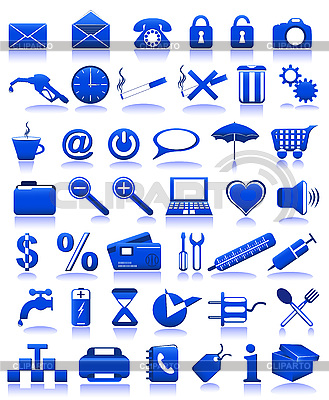 Blue icons   Stock Vector Graphics  ID 3043860