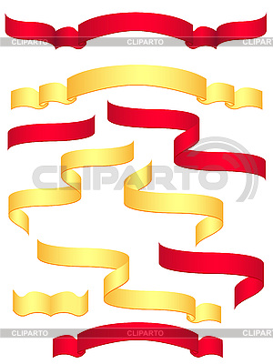 Red and yellow banners | Stock Vector Graphics |ID 3044121