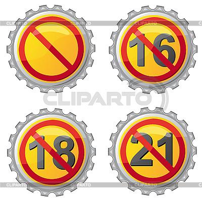 Zeichen der Altersbeschränkung | Stock Vektorgrafik |ID 3045051