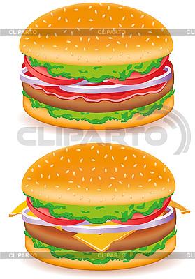 Hamburger and cheeseburger   Stock Vector Graphics  ID 3156289