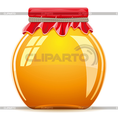 Honey in pot with red cover | Stock Vector Graphics |ID 3331019