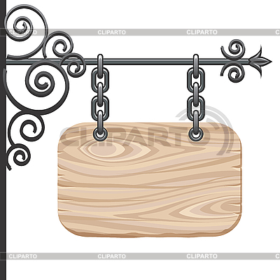 Wooden signboard | Stock Vector Graphics |ID 3045250