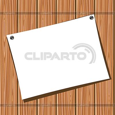 나무 벽에 종이 | 벡터 클립 아트 |ID 3045280