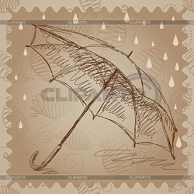 Parasol w deszczu | Stockowa ilustracja wysokiej rozdzielczości |ID 3045694