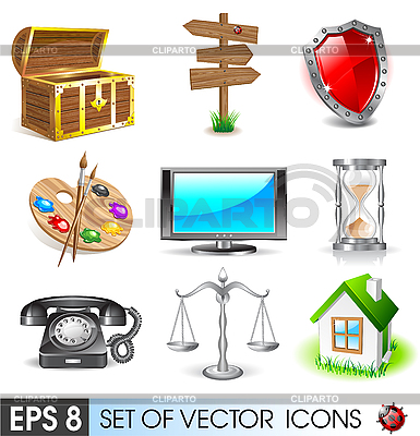 Set von Icons | Stock Vektorgrafik |ID 3045698