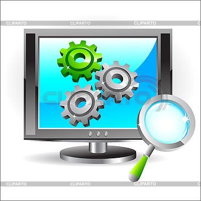 Icon für Display-Einstellungen   Stock Vektorgrafik  ID 3045702