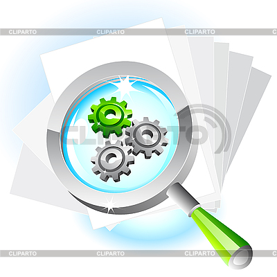 Magnifying glass icon | Stock Vector Graphics |ID 3045704