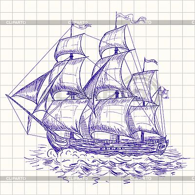 Vintage sailboat | Stock Vector Graphics |ID 3045789