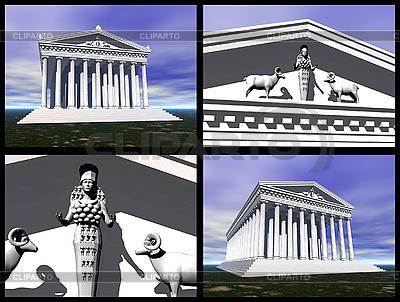 在以弗所的阿耳忒弥斯神庙。三维重建 | 高分辨率插图 |ID 3045829