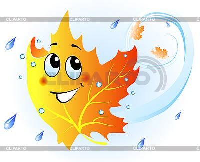 Śliczne falling liść klonu | Klipart wektorowy |ID 3046024
