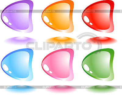 Set of glossy buttons   Stock Vector Graphics  ID 3046037