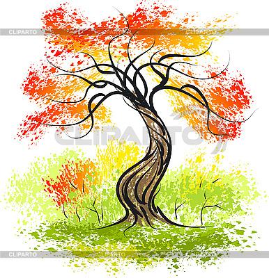 Осеннее дерево | Векторный клипарт |ID 3046084