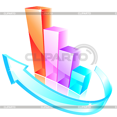 3d glass graph | Stock Vector Graphics |ID 3046091