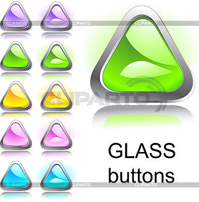 Set of glass buttons   Stock Vector Graphics  ID 3046331