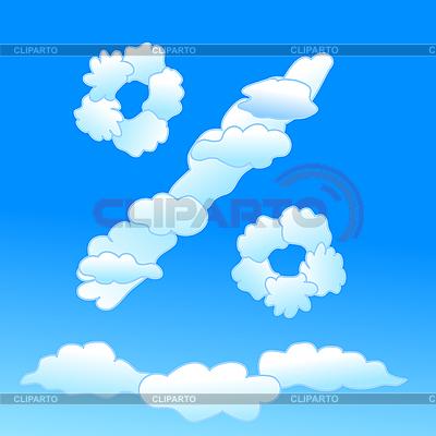Prozent-Zeichen aus Wolken | Stock Vektorgrafik |ID 3053174
