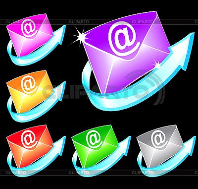 Set mit bunten E-Mail-Symbolen | Stock Vektorgrafik |ID 3053196