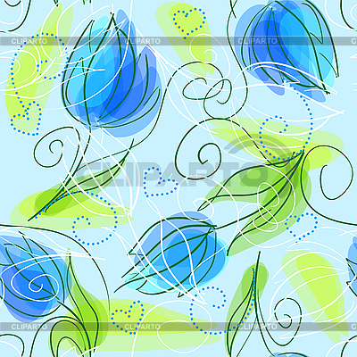 Seamless floral pattern | Stock Vector Graphics |ID 3058671