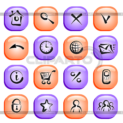 Set of glossy icons for web applications | Stock Vector Graphics |ID 3058721