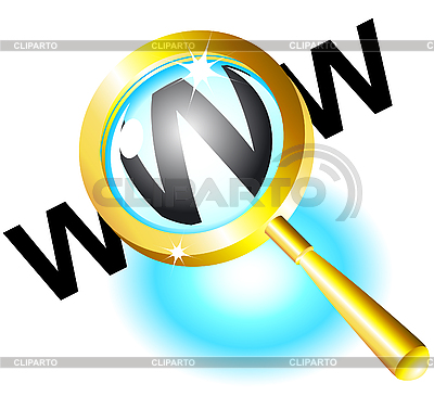 Magnifying glass and www | Stock Vector Graphics |ID 3058735