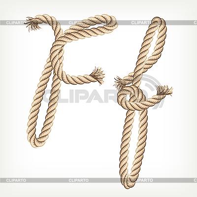 Seil-Buchstabe F | Stock Vektorgrafik |ID 3072808