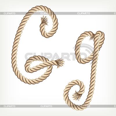 Seil-Buchstabe G | Stock Vektorgrafik |ID 3072810