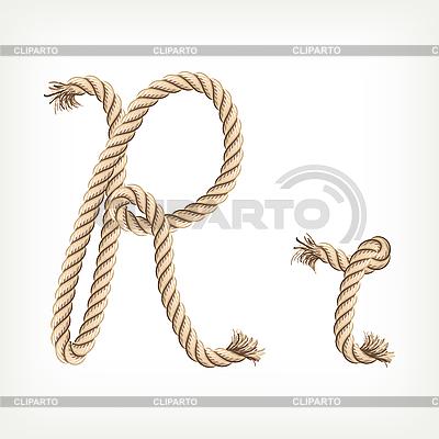Rope początkowa R | Klipart wektorowy |ID 3072832
