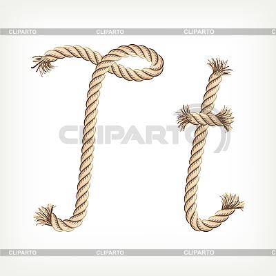 Seil-Buchstabe T | Stock Vektorgrafik |ID 3072836