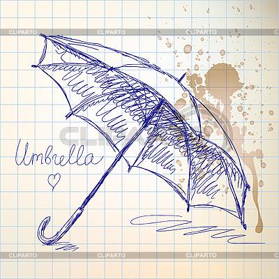伞素描 | 向量插图 |ID 3072864