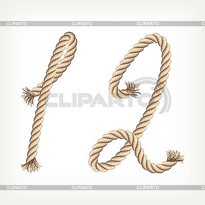 Ziffern 12 aus Seilen | Stock Vektorgrafik |ID 3073533