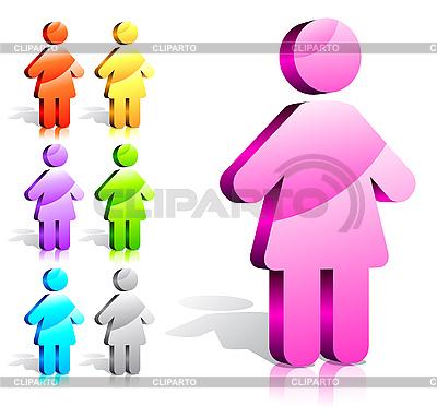 Weibliche Icons | Stock Vektorgrafik |ID 3078788