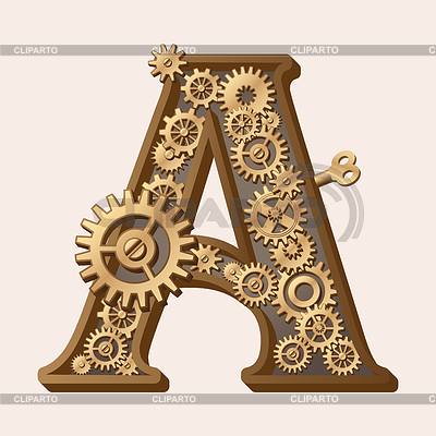 Mechanical alphabet | Stock Vector Graphics |ID 3280306