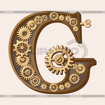 Mechanical alphabet | Stock Vector Graphics |ID 3280318