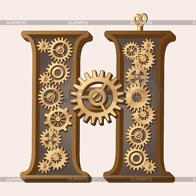 Mechanical alphabet   Stock Vector Graphics  ID 3280320