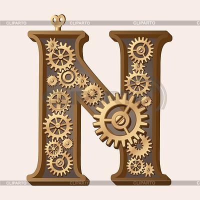 Mechaniczne alfabet | Klipart wektorowy |ID 3280332