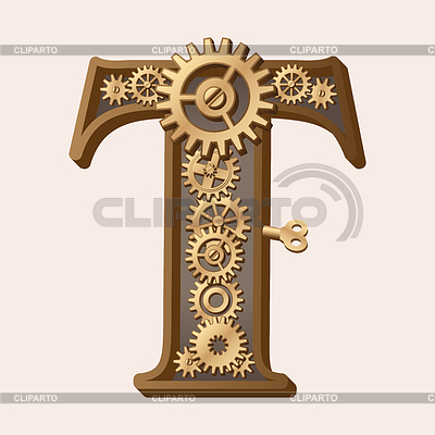 Mechanical alphabet | Stock Vector Graphics |ID 3280344