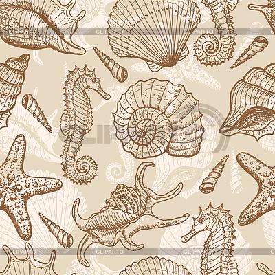 바다 원활한 패턴   벡터 클립 아트  ID 3319077