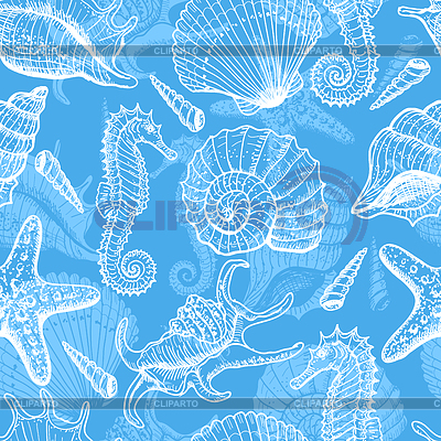 Sea seamless pattern | Stock Vector Graphics |ID 3321514