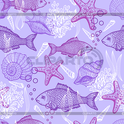 Sea seamless pattern | Stock Vector Graphics |ID 3348725