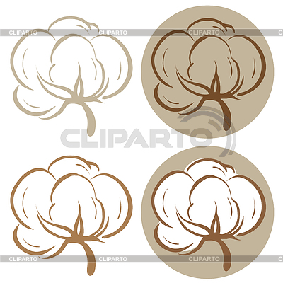 Cotton icons | Stock Vector Graphics |ID 3348733