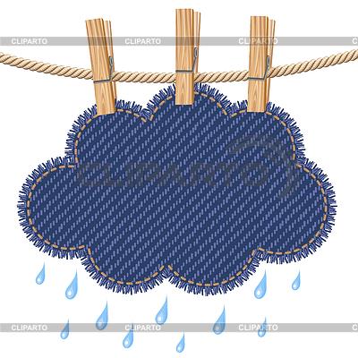 Rain cloud on clothesline | Stock Vector Graphics |ID 3356482