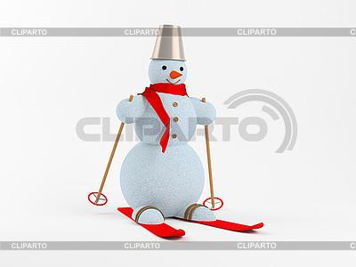 Snowman na białym tle | Stockowa ilustracja wysokiej rozdzielczości |ID 3040148