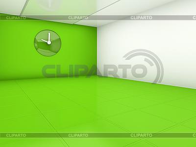 Empty green room | Stockowa ilustracja wysokiej rozdzielczości |ID 3061891