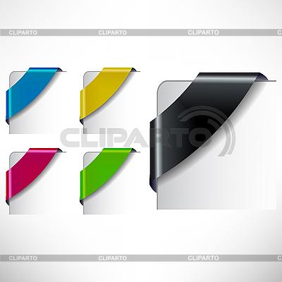 색 코너 리본 세트   벡터 클립 아트  ID 3040522