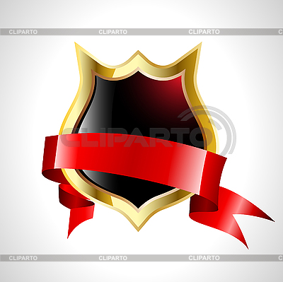 Shield with red ribbon | Stock Vector Graphics |ID 3041408