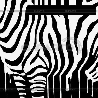 Sylwetka zebra smugi z kodem kreskowym | Klipart wektorowy |ID 3041418