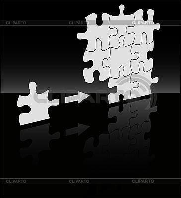 블랙에 퍼즐 | 벡터 클립 아트 |ID 3042183