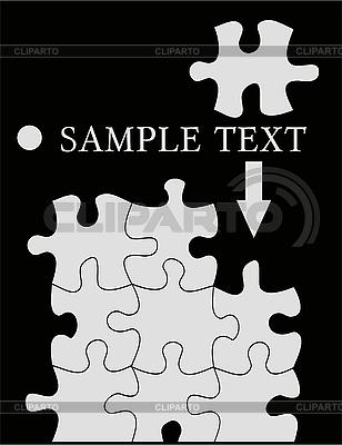 검정에 apuzzle   벡터 클립 아트  ID 3042189