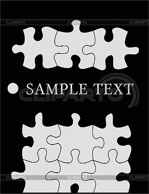 블랙에 퍼즐 | 벡터 클립 아트 |ID 3042191