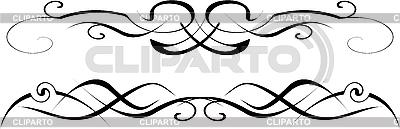 Czarne i białe ozdoby | Klipart wektorowy |ID 3121931